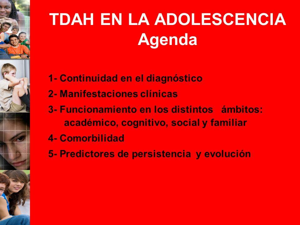 TDAH EN LA ADOLESCENCIA Agenda