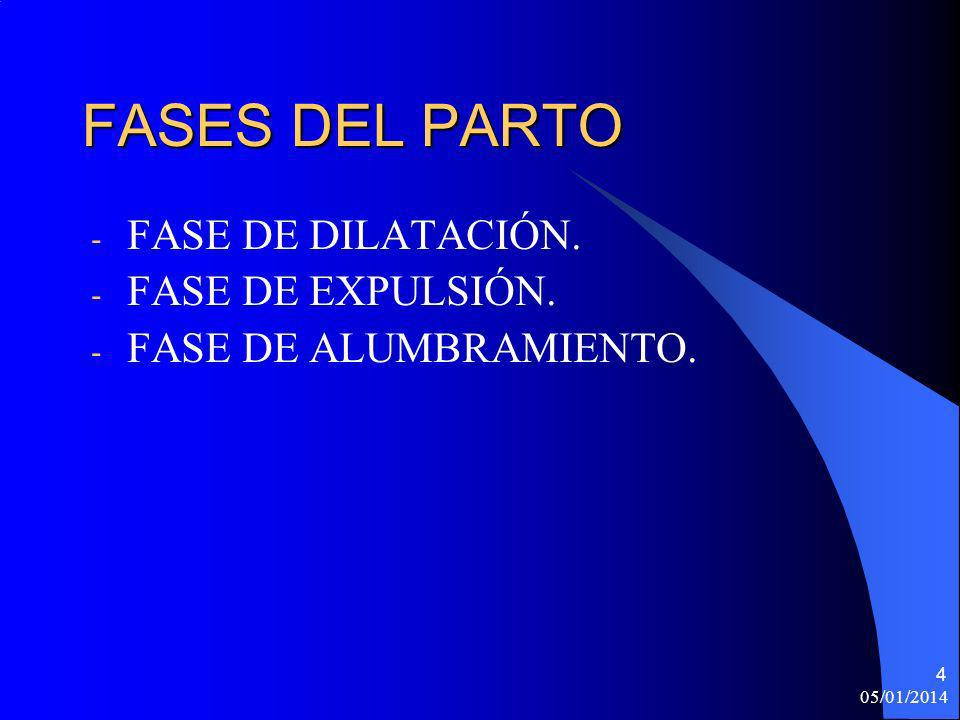 FASES DEL PARTO FASE DE DILATACIÓN. FASE DE EXPULSIÓN.