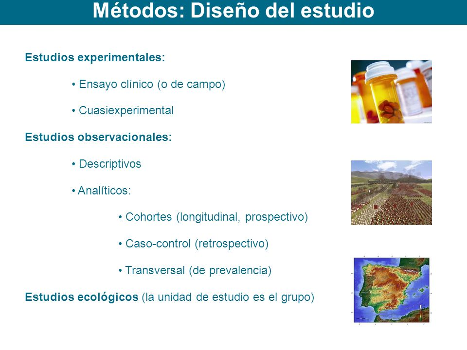 Métodos: Diseño del estudio