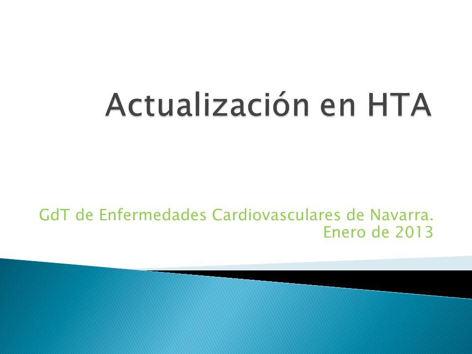 GdT de Enfermedades Cardiovasculares de Navarra. Enero de 2013