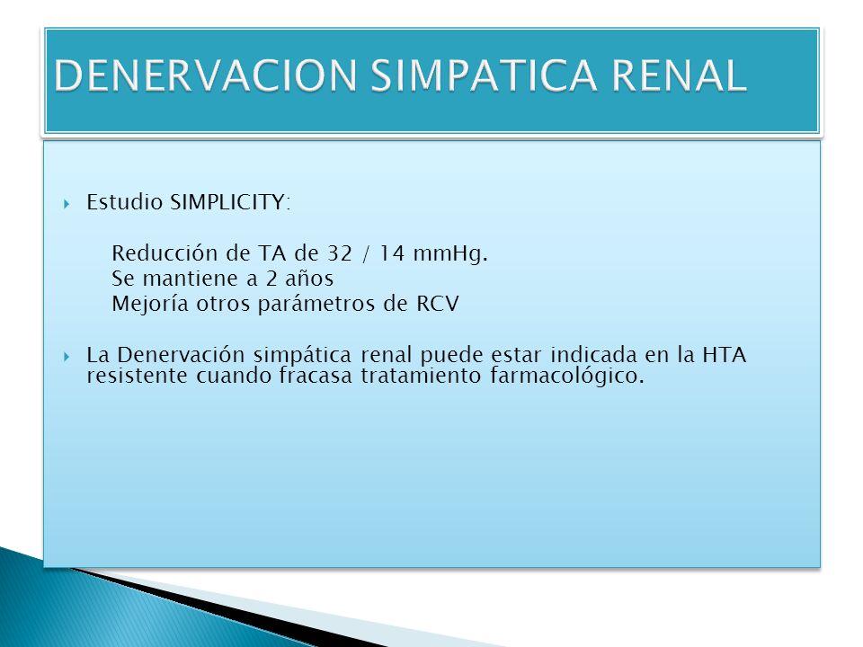 DENERVACION SIMPATICA RENAL