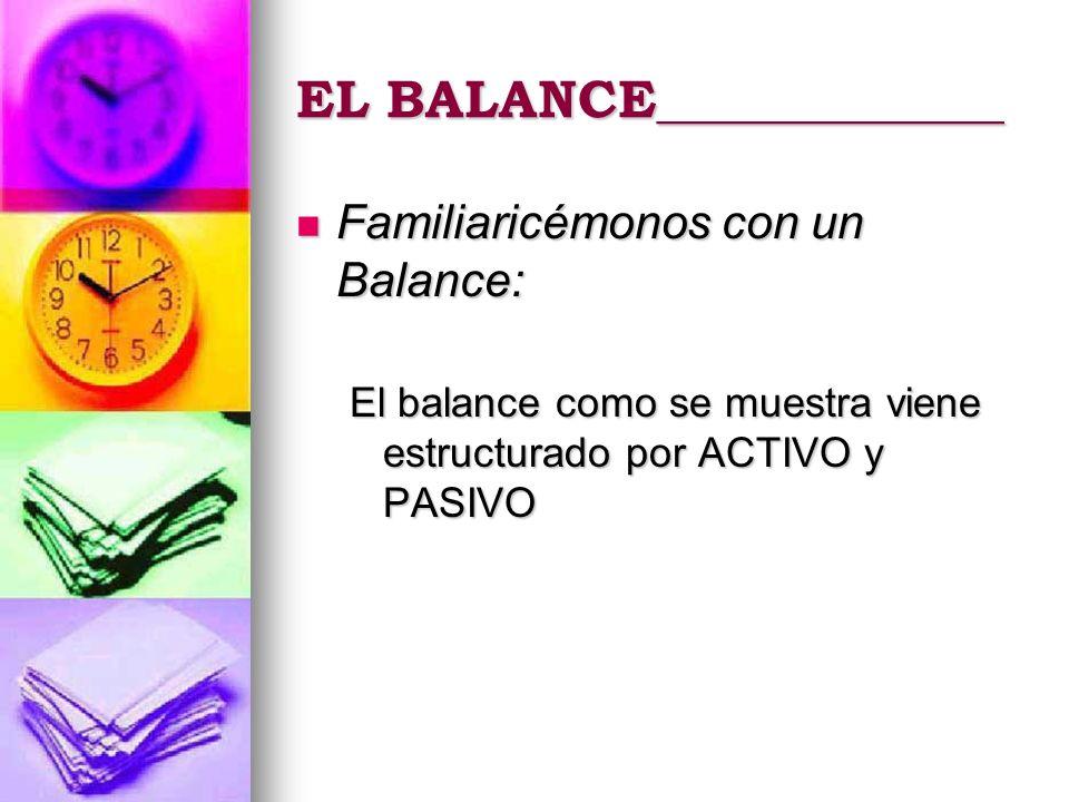 EL BALANCE_____________