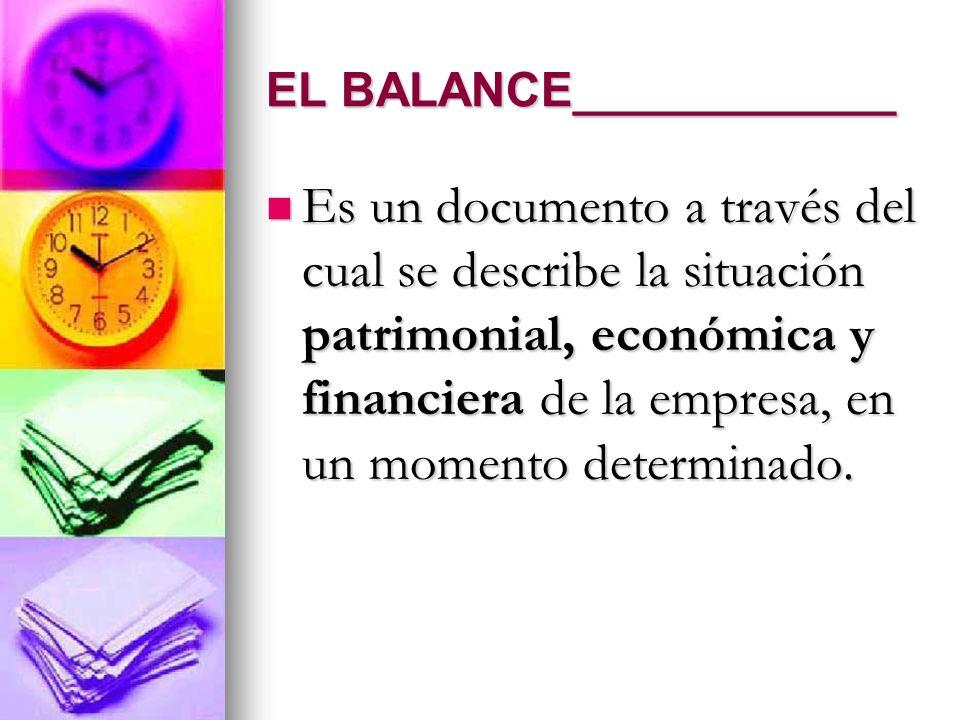 EL BALANCE____________