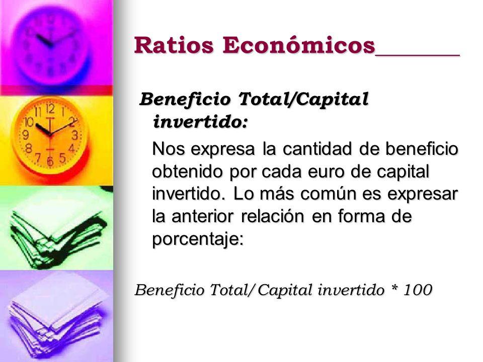 Ratios Económicos_______