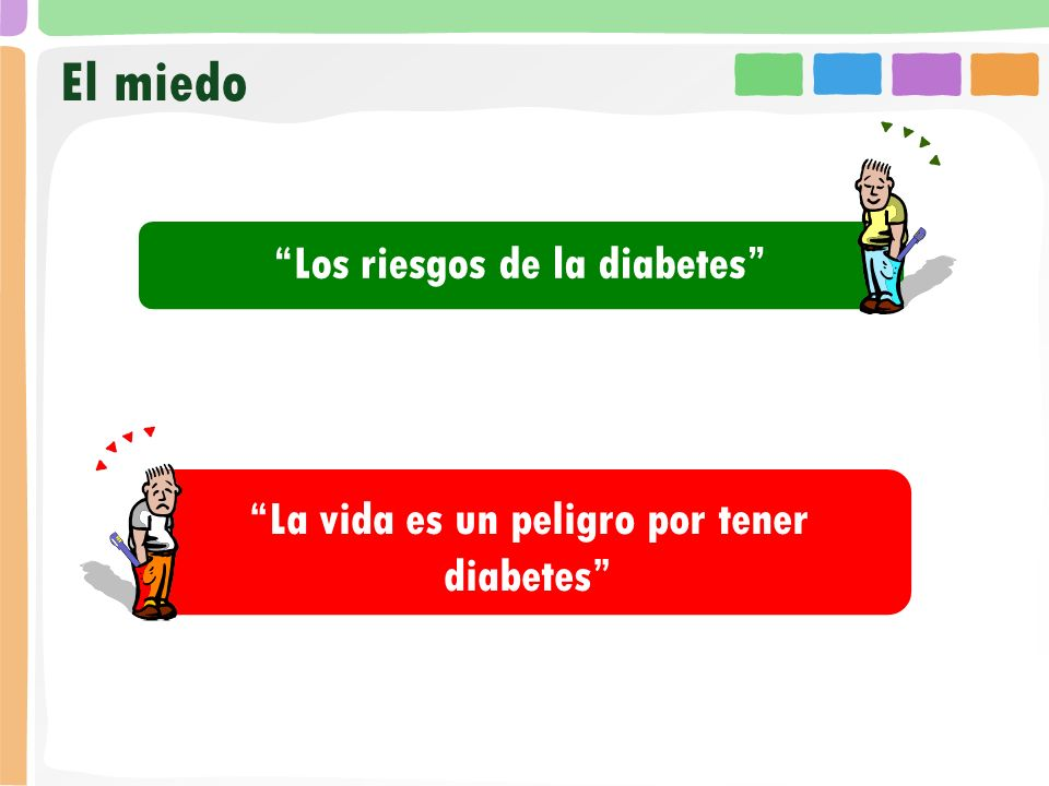 El miedo Los riesgos de la diabetes