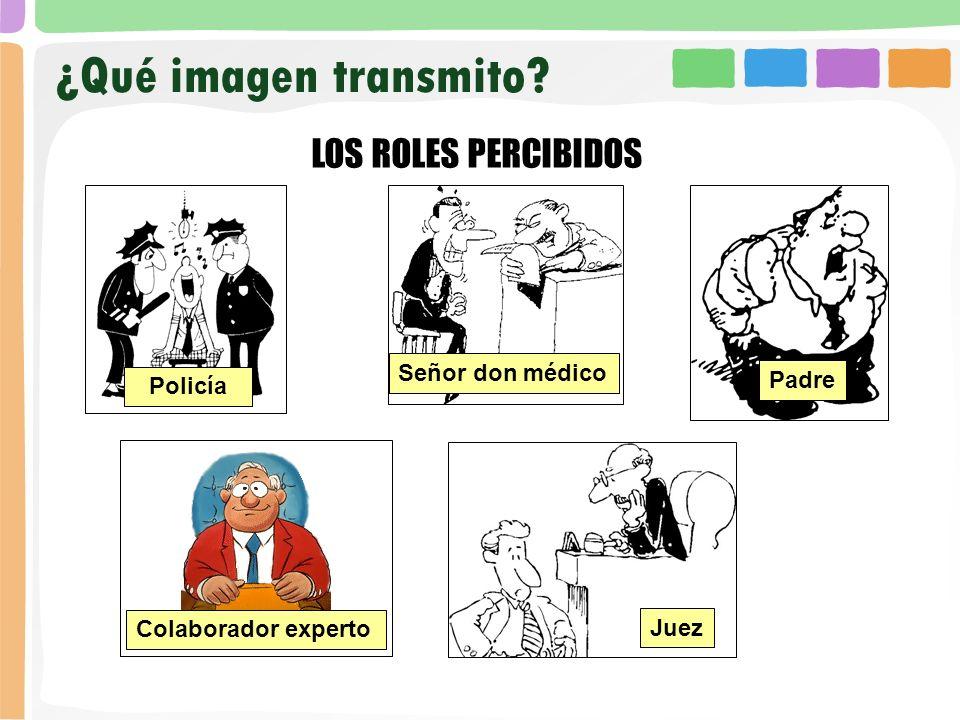 ¿Qué imagen transmito LOS ROLES PERCIBIDOS Señor don médico Padre