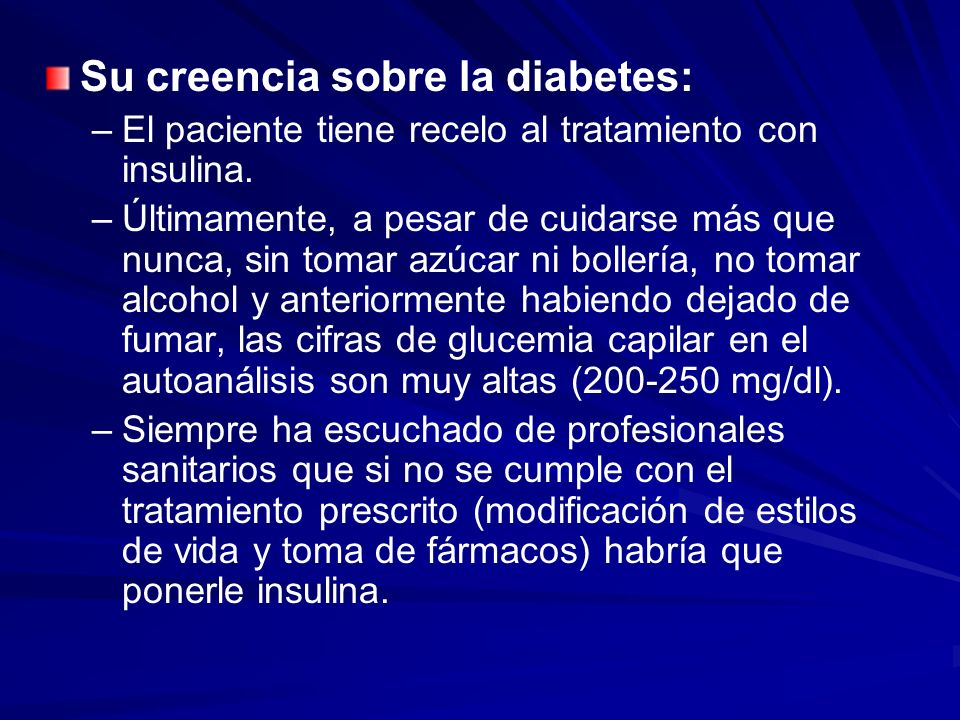 Su creencia sobre la diabetes: