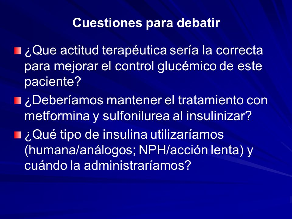 Cuestiones para debatir