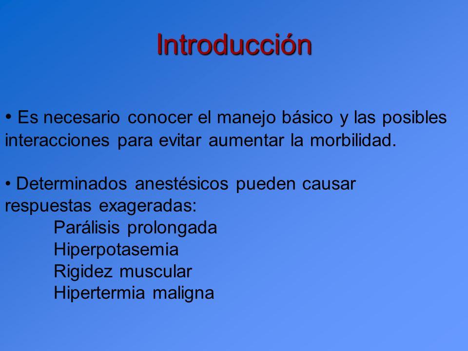 Introducción Es necesario conocer el manejo básico y las posibles interacciones para evitar aumentar la morbilidad.