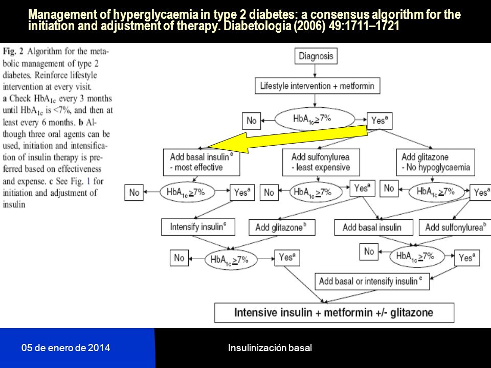 Management of hyperglycaemia in type 2 diabetes: a consensus algorithm for the initiation and adjustment of therapy. Diabetologia (2006) 49:1711–1721
