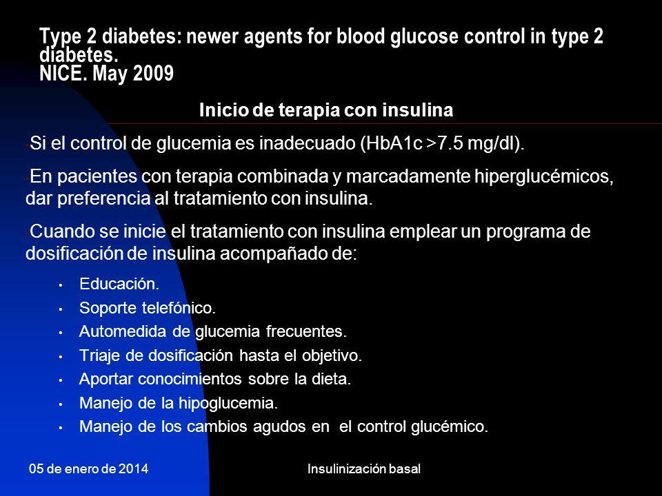 Inicio de terapia con insulina