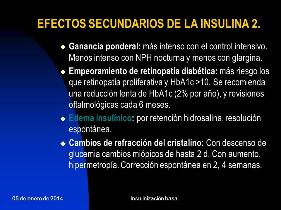 EFECTOS SECUNDARIOS DE LA INSULINA 2.