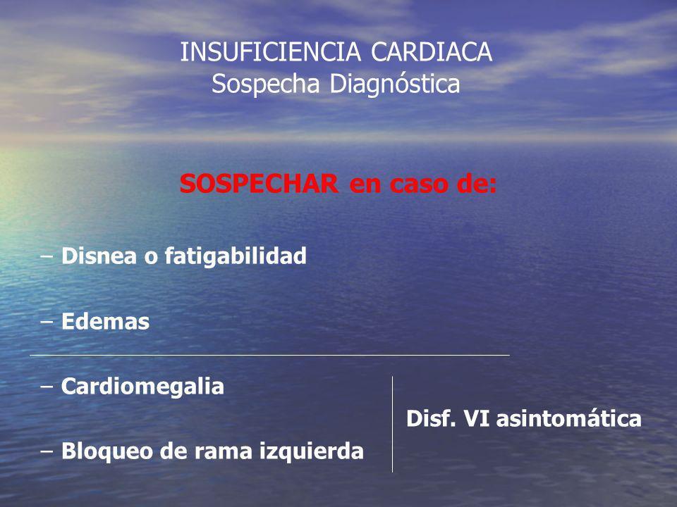 INSUFICIENCIA CARDIACA Sospecha Diagnóstica