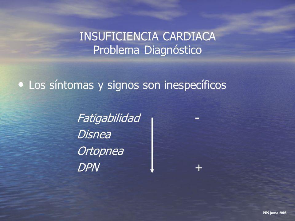 INSUFICIENCIA CARDIACA Problema Diagnóstico