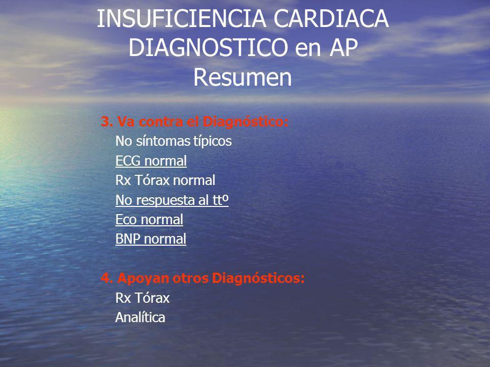 INSUFICIENCIA CARDIACA DIAGNOSTICO en AP Resumen