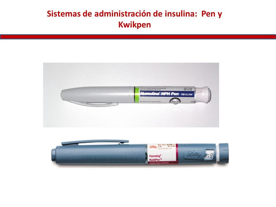 Sistemas de administración de insulina: Pen y Kwikpen