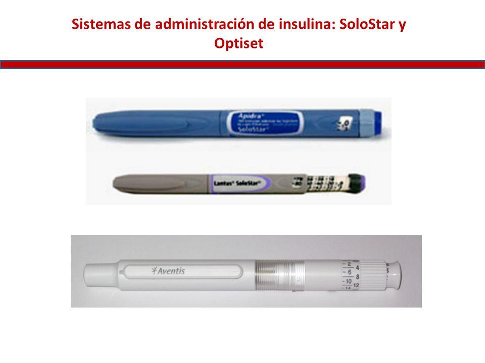 Sistemas de administración de insulina: SoloStar y Optiset