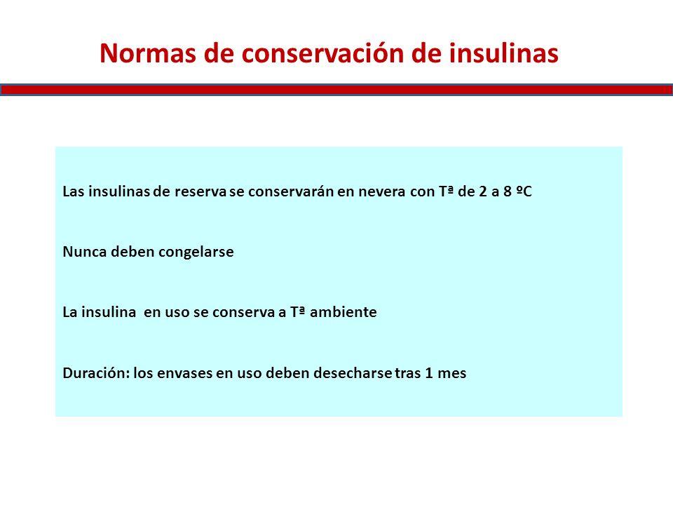 Normas de conservación de insulinas