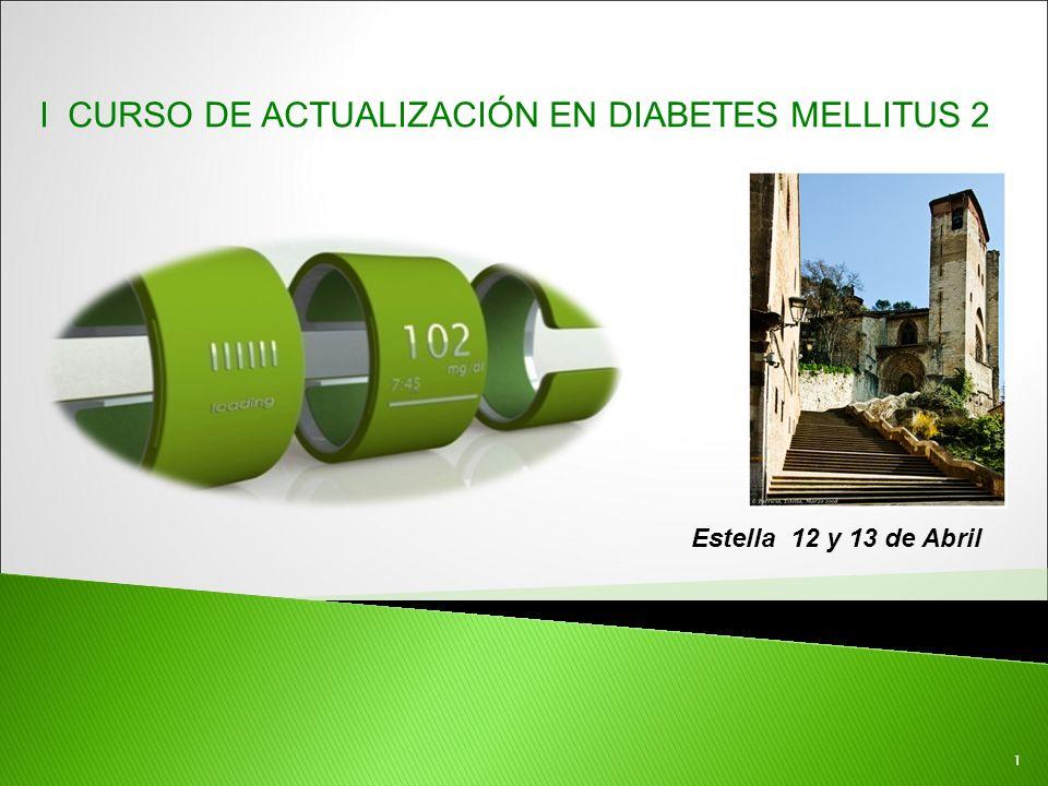 I CURSO DE ACTUALIZACIÓN EN DIABETES MELLITUS 2
