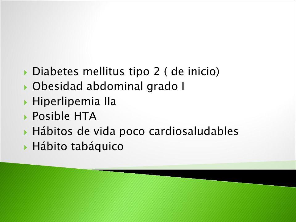 Diabetes mellitus tipo 2 ( de inicio)