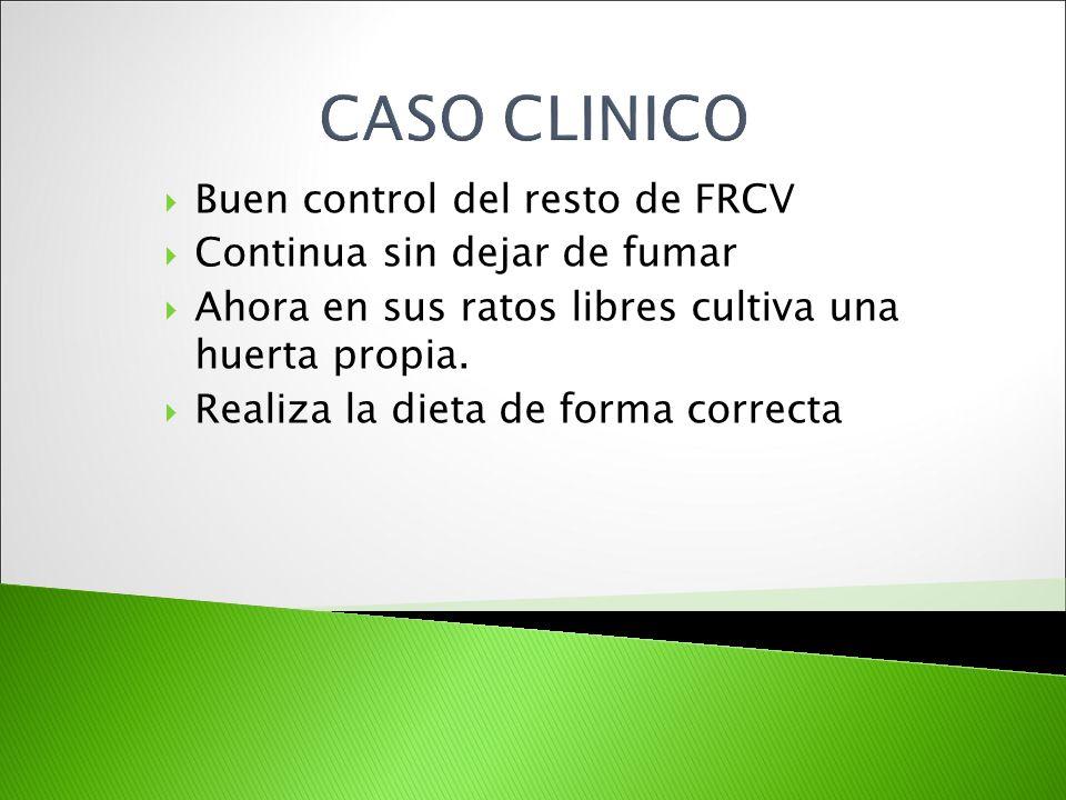 CASO CLINICO Buen control del resto de FRCV