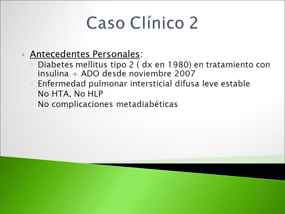 Caso Clínico 2 Antecedentes Personales: