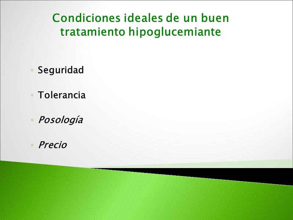 Condiciones ideales de un buen tratamiento hipoglucemiante