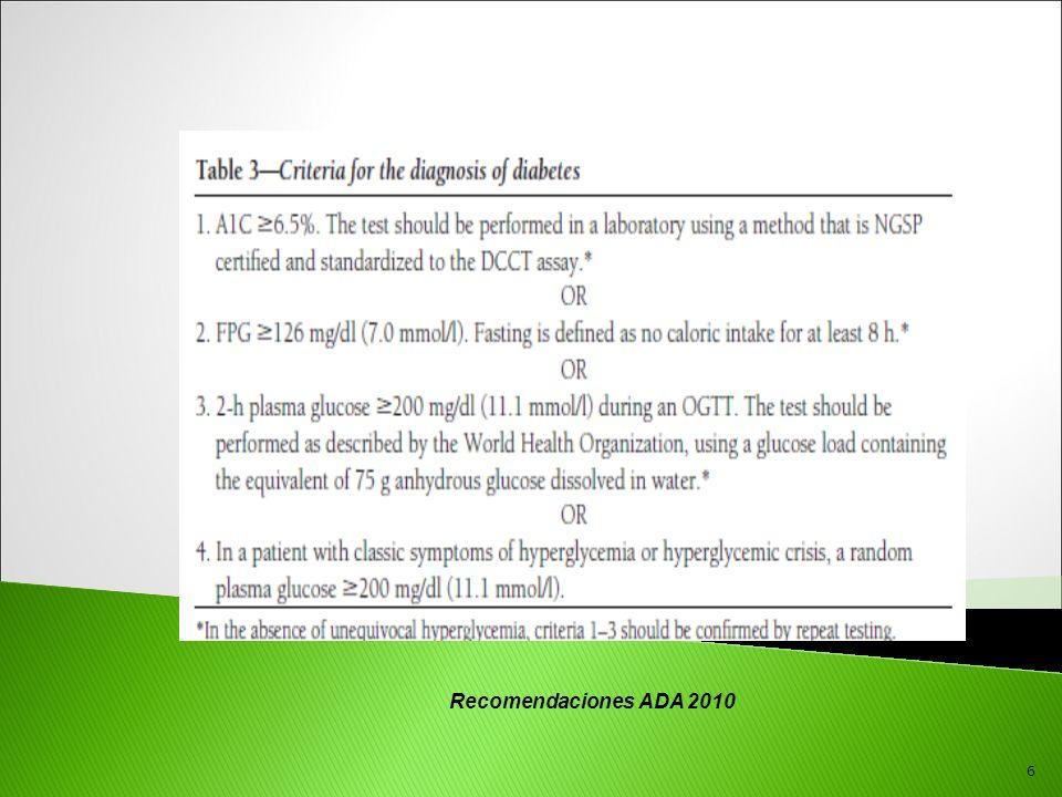 Recomendaciones ADA 2010 6