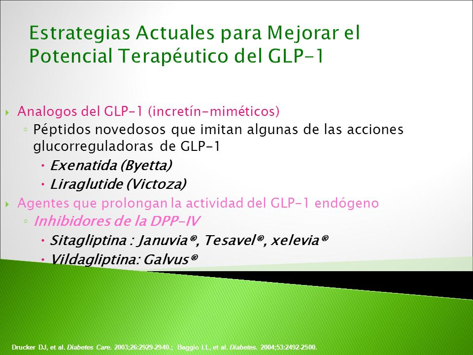 Estrategias Actuales para Mejorar el Potencial Terapéutico del GLP-1