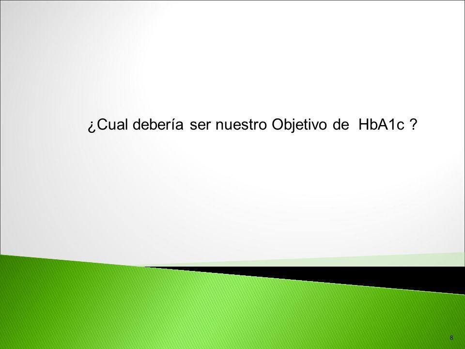 ¿Cual debería ser nuestro Objetivo de HbA1c