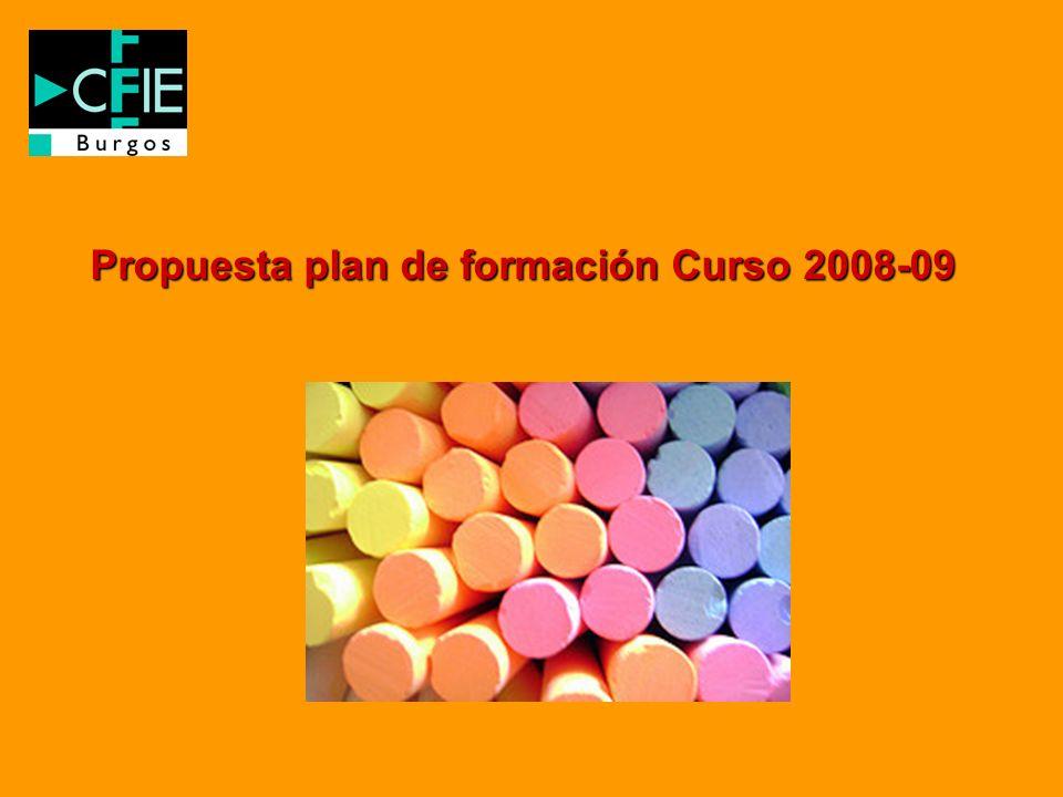 Propuesta plan de formación Curso 2008-09