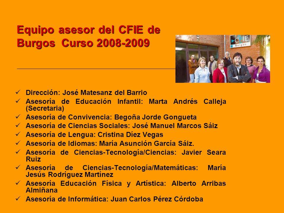Equipo asesor del CFIE de Burgos Curso 2008-2009