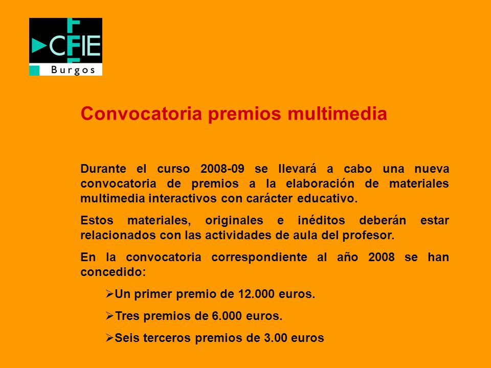 Convocatoria premios multimedia