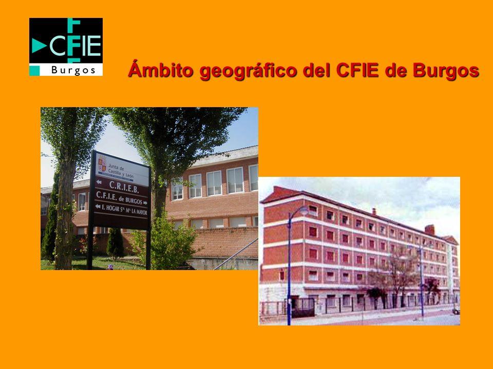 Ámbito geográfico del CFIE de Burgos