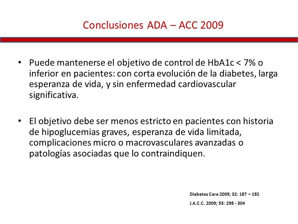 Conclusiones ADA – ACC 2009