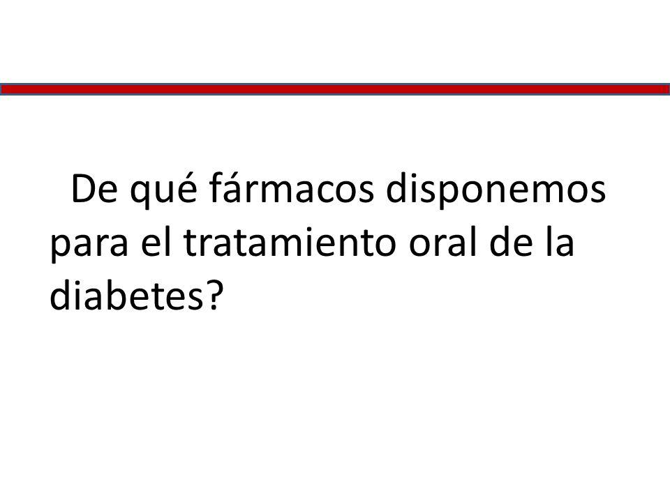 ¿De qué fármacos disponemos para el tratamiento oral de la diabetes