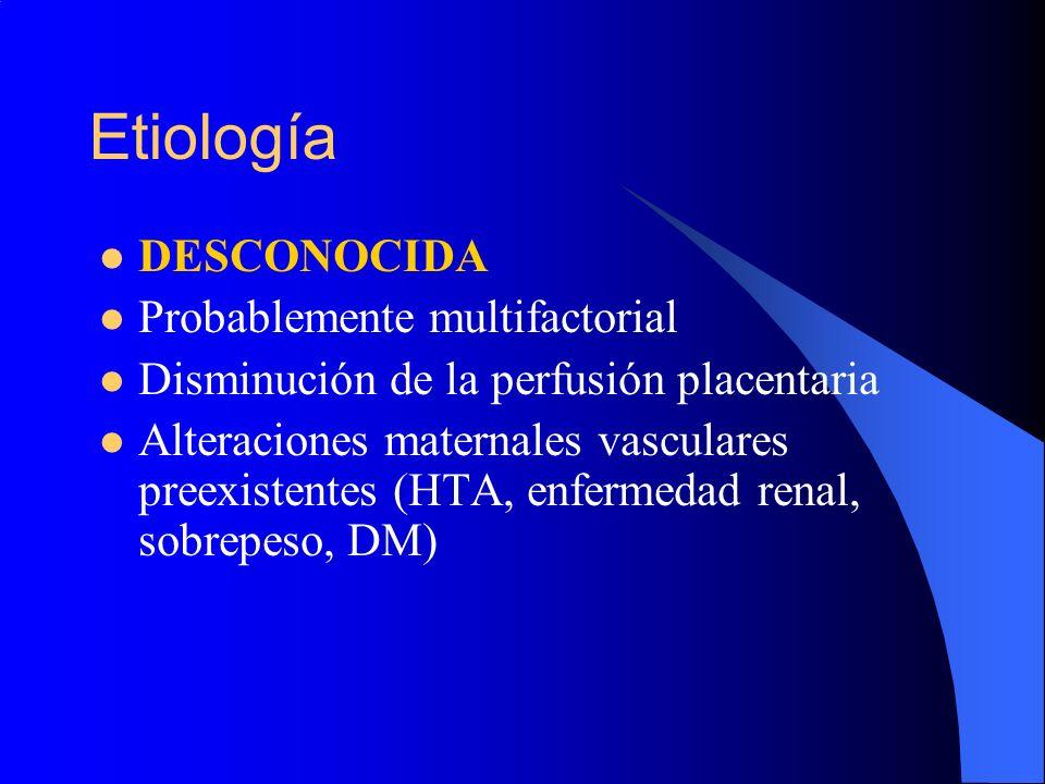 Etiología DESCONOCIDA Probablemente multifactorial