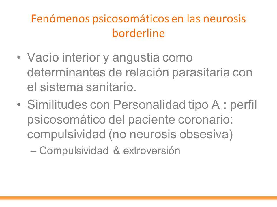 Fenómenos psicosomáticos en las neurosis borderline