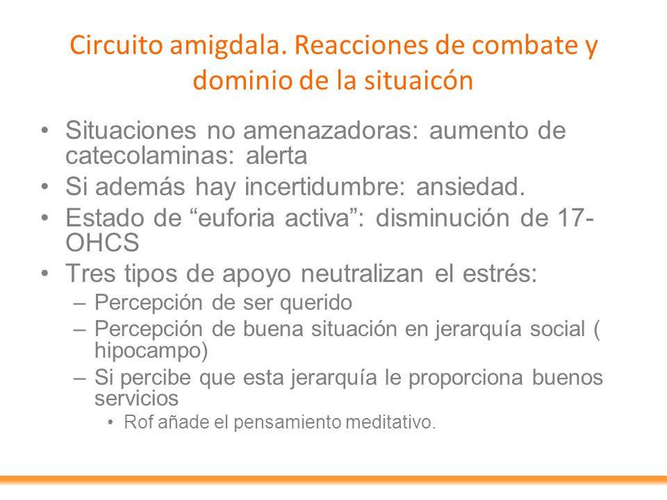 Circuito amigdala. Reacciones de combate y dominio de la situaicón