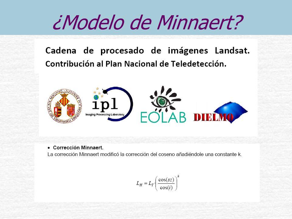 ¿Modelo de Minnaert