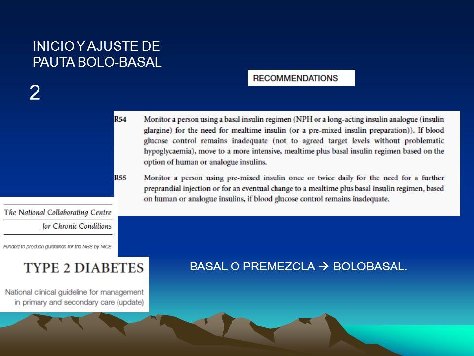 INICIO Y AJUSTE DE PAUTA BOLO-BASAL
