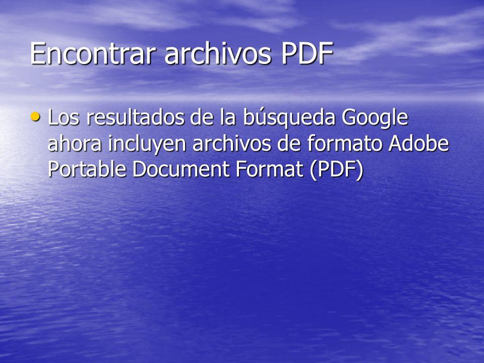 Encontrar archivos PDF