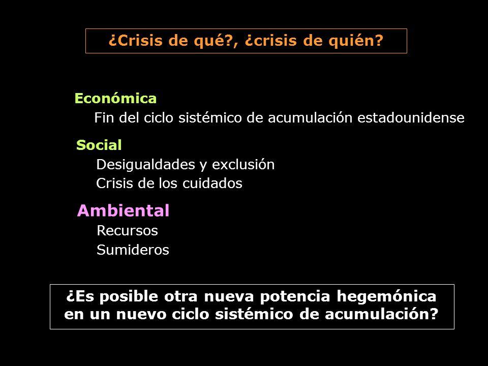 ¿Crisis de qué , ¿crisis de quién
