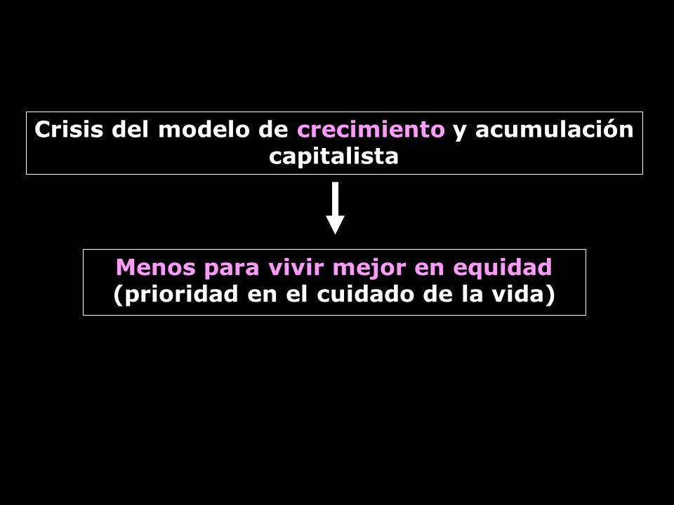 Crisis del modelo de crecimiento y acumulación capitalista