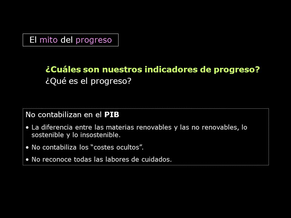 ¿Cuáles son nuestros indicadores de progreso ¿Qué es el progreso