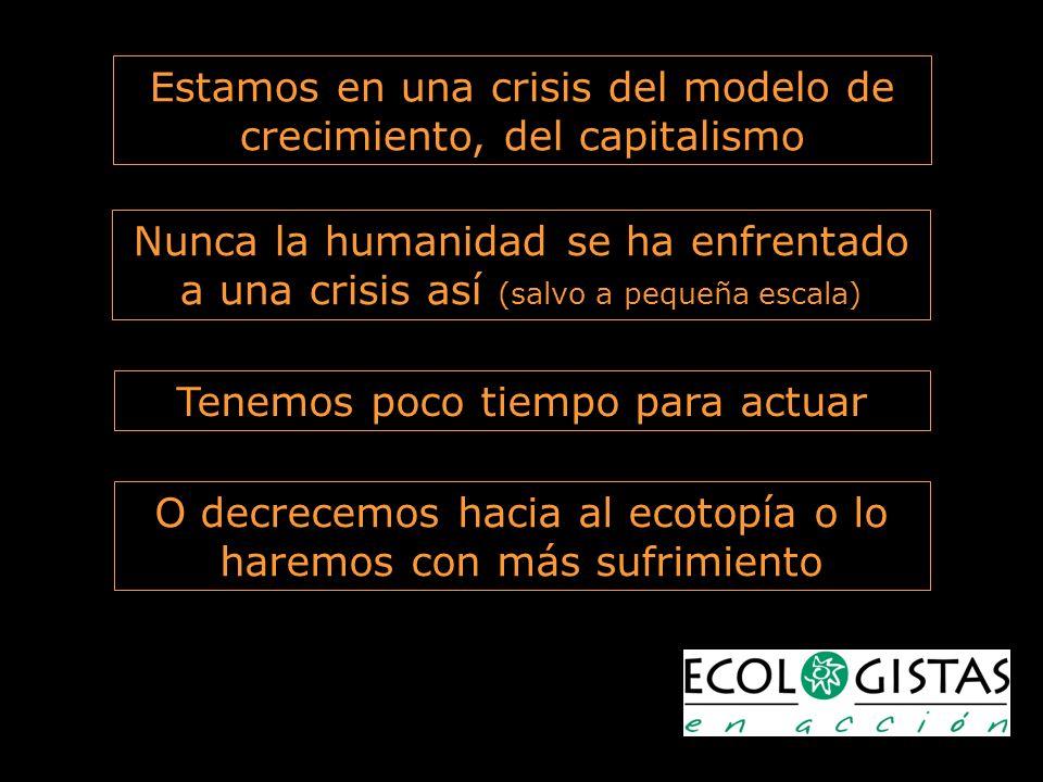 Estamos en una crisis del modelo de crecimiento, del capitalismo