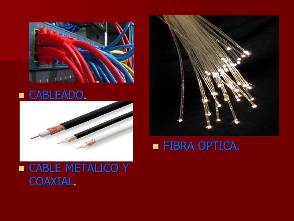 FIBRA OPTICA. CABLEADO. CABLE METÁLICO Y COAXIAL.