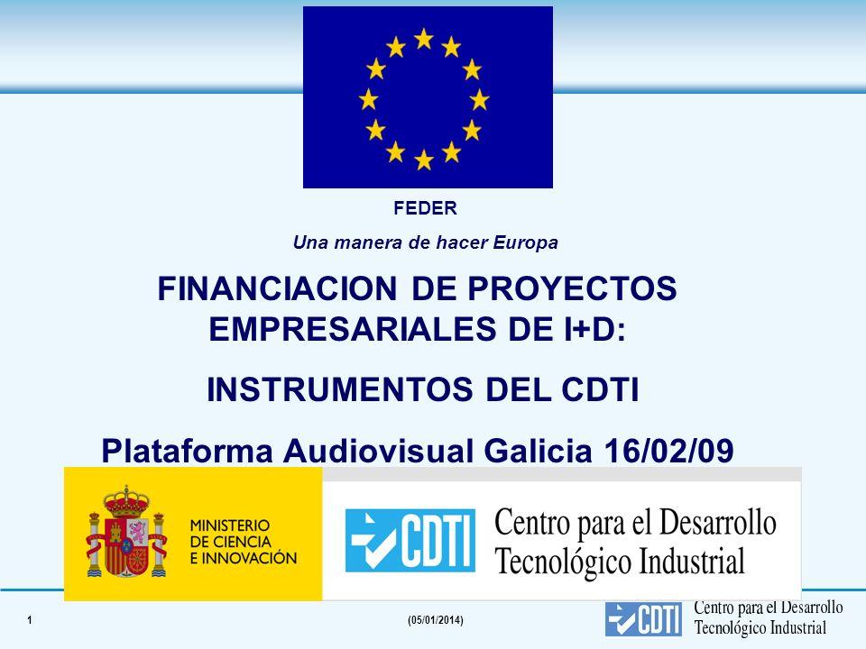 FINANCIACION DE PROYECTOS EMPRESARIALES DE I+D: INSTRUMENTOS DEL CDTI
