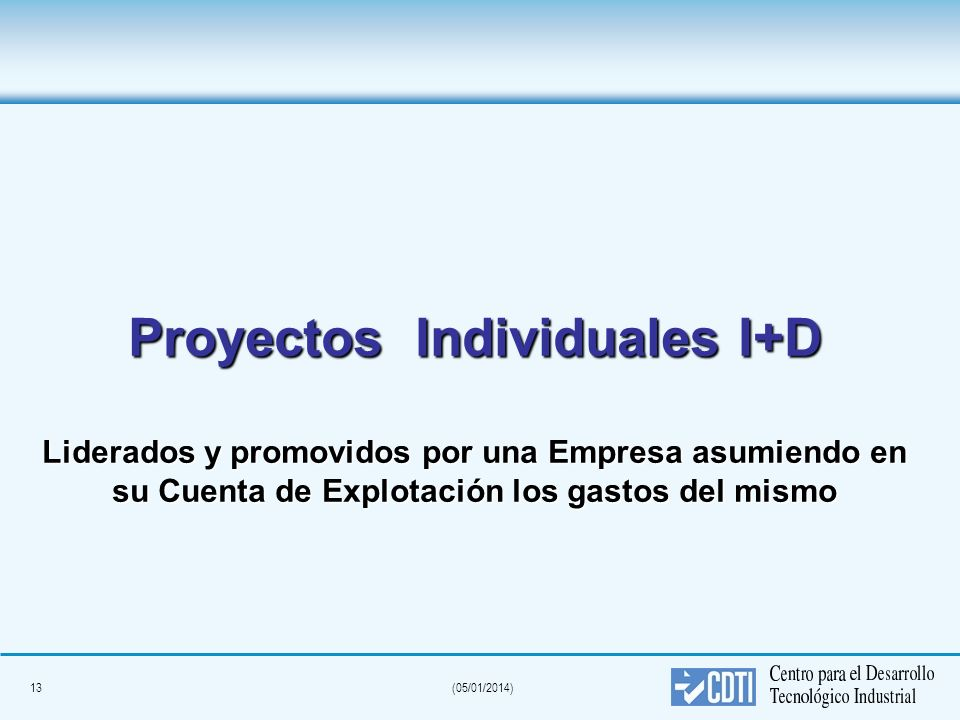 Proyectos Individuales I+D