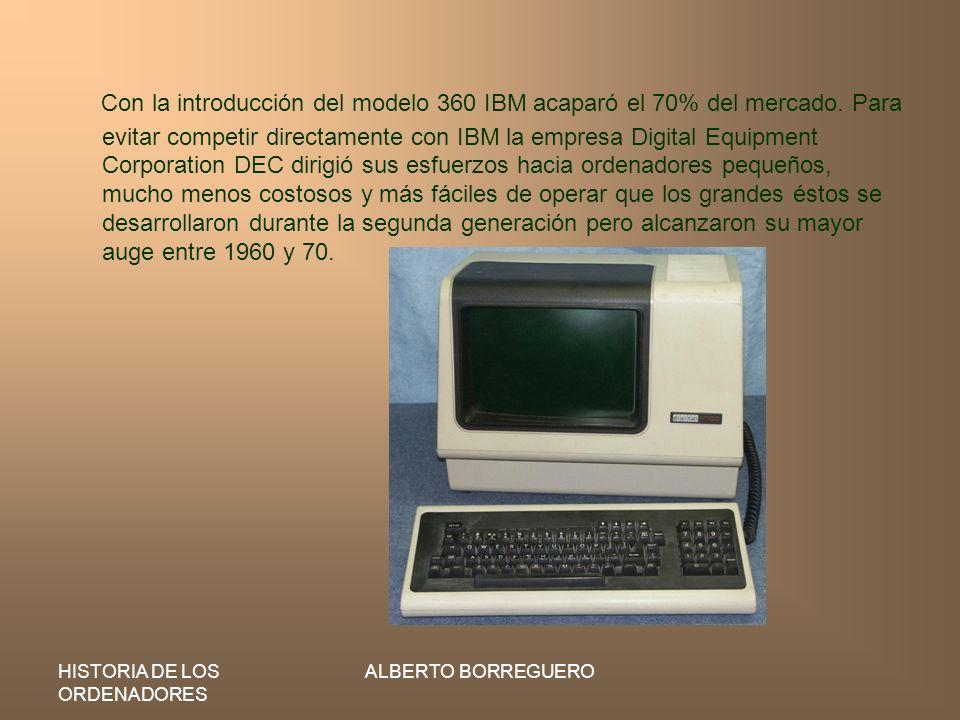 Con la introducción del modelo 360 IBM acaparó el 70% del mercado